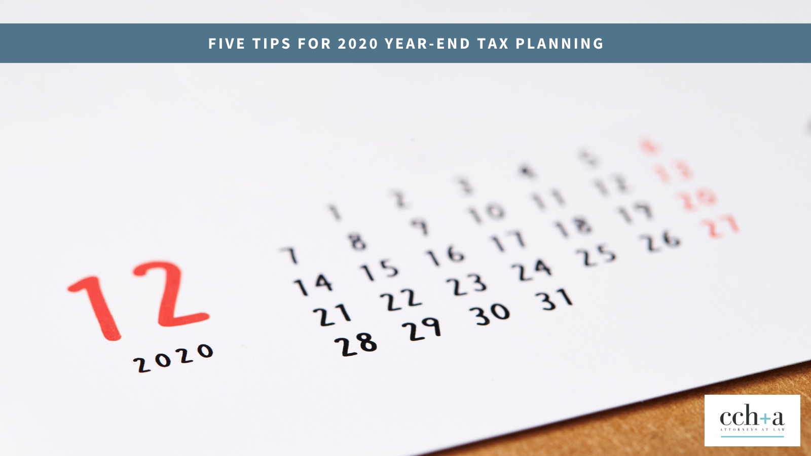 Ccha dec 2020 five tips for 2020 year end tax plan twitter