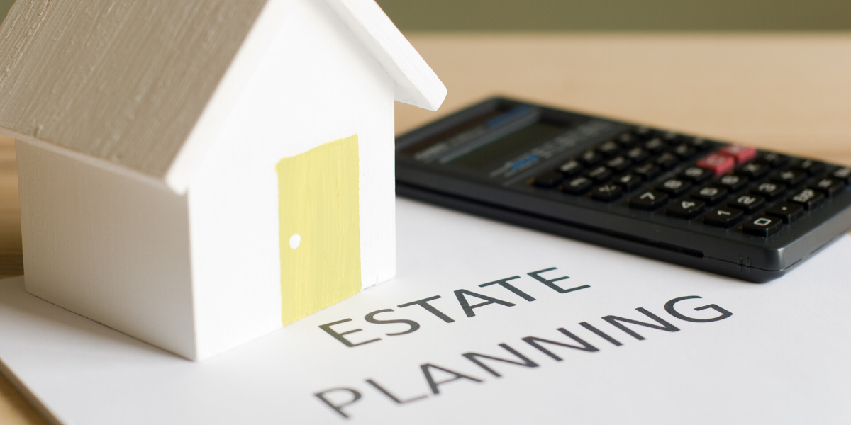 CCHA estate planning document with calculator and toy house