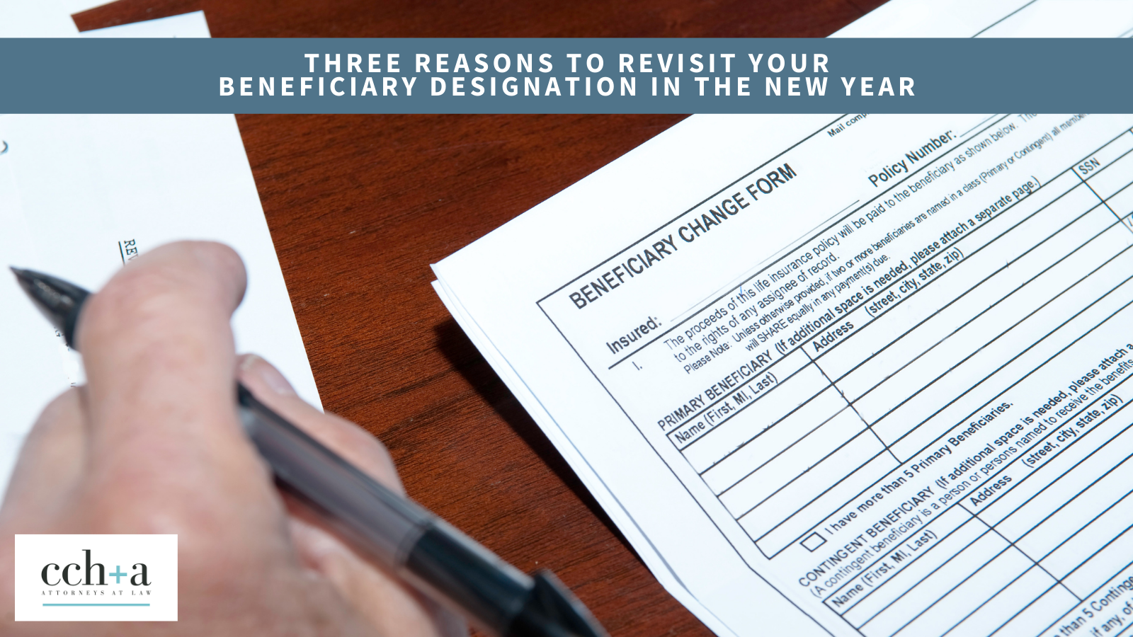 Ccha jan 2020 Three Reasons to Revisit and Select Your Beneficiary in the New Year twitter FINAL